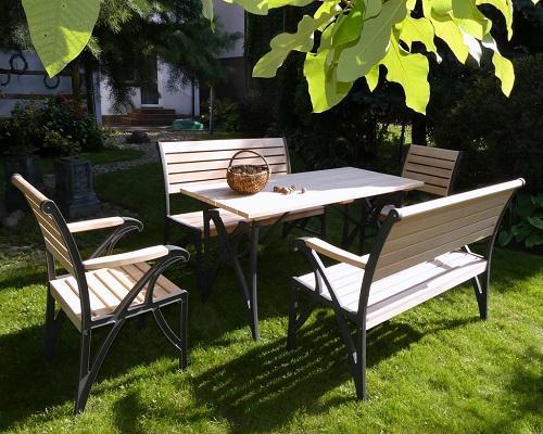 ławka krzesła stół ogrodowy drewniany