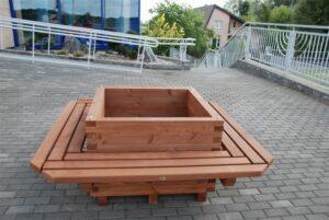 Donica parkowa z ławką duża