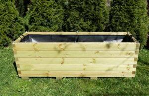 Donica składana drewniana długa