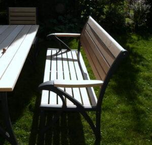 Meble ogrodowe drewniane ławka stół