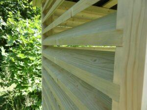 nowoczesna drewutnia szopa na drewno