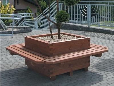 Donica parkowa z ławką